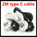 2M 6FT 200pcs/lot Type-C 3.1 Type C cable USB Data Sync Charge Cable for Nokia N1 for Macbook for xiaomi 4c MX5 Pro