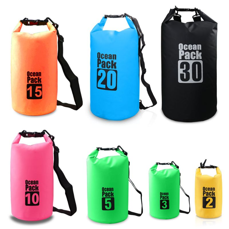 Fashion 2L-30L PVC Waterproof Dry Bag Sack Ocean Pack Floating Boating Camping Kayaking School Backpack for Men and WomenFashion 2L-30L PVC Waterproof Dry Bag Sack Ocean Pack Floating Boating Camping Kayaking School Backpack for Men and Women