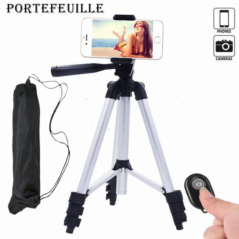 Portefeuille Aluminum Camera Cell Phone Tripod for iPhone