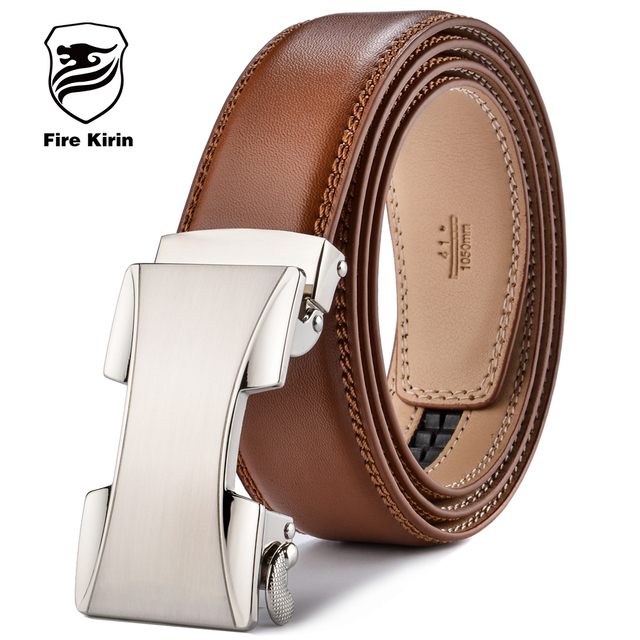 FIRE KIRIN Designer Belts Men High Quality ceinture homme Leather Belt Men 2017 Automatic Buckle Belt Brown cinto masculino B53