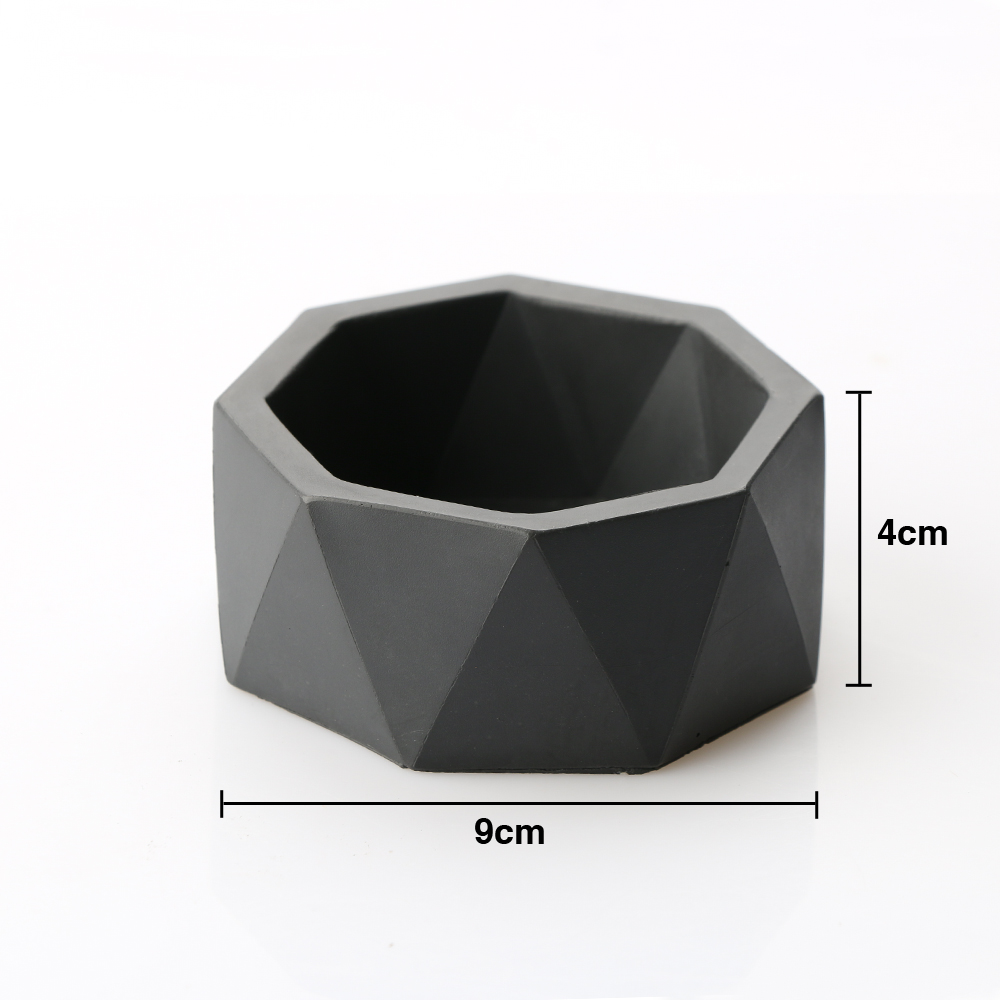 SN0033 flower pot geometric shape silicone mold handmade 3D vase Cement pot molds succulent concrete mould aroma stone moulds in Cake Molds from Home Garden