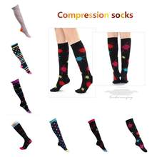 HobbyLane 1 pair Exercise Elastic Compression Socks Leg Protector Running Pressure Socks Long Cylinder Stockings S/M L/XL(China)