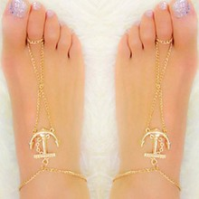 Fashion Gold Anchor Anklet Foot bracelets Barefoot sandals Anklets for women Sexy Tin chain Beach anklets jewelry