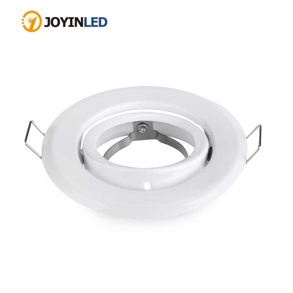 Бесплатная доставка 10 шт./лот золотой круг комплект фиттингов Gu10/mr16/GU5.3 светодио дный внимания кадра светильники