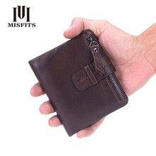 Nieuwe merk mannen portefeuilles dollar prijs portemonnee echt leer portemonnee kaarthouder ontwerper koppeling zakelijke mini portemonnee van hoge kwaliteit