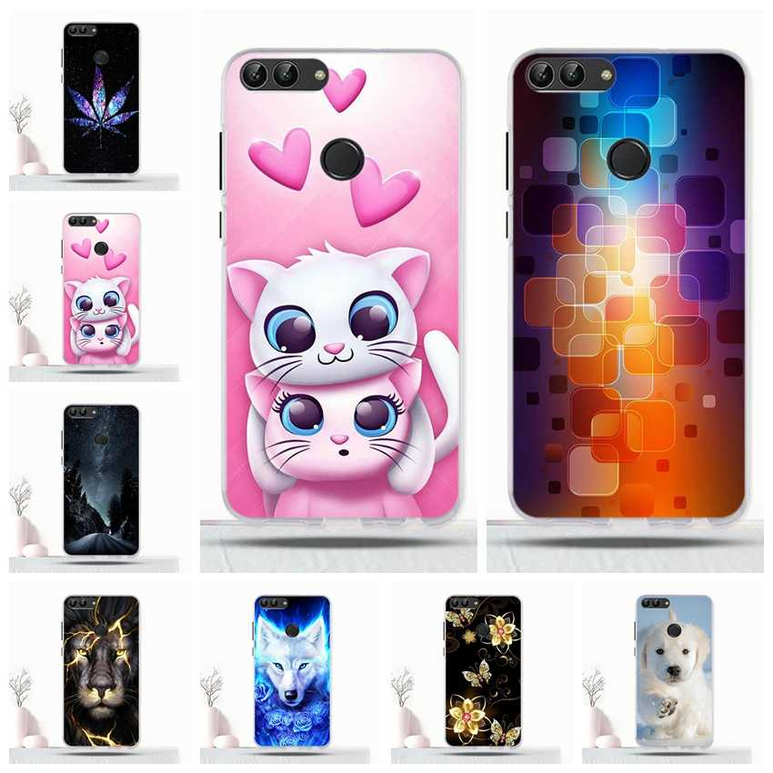 For Huawei P Smart / Enjoy 7S Case Soft TPU Back Cover For Huawei p smart Enjoy 7s Protective Coque For Huawei psmart Phone Case