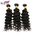 Westkiss pelo 3 unids belleza del pelo brasileño de la onda profunda rizada armadura del pelo humano sin procesar profunda brasileña del pelo rizado Envío Gratis