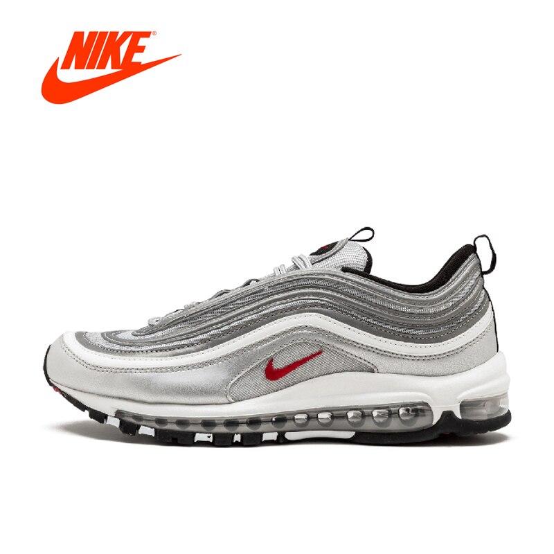 Original Nouvelle Arrivée Authentique Nike Air Max 97 OG QS VERSION Pour Hommes de Chaussures de Course Respirant Sport Sneakers En Plein Air 884421 -001