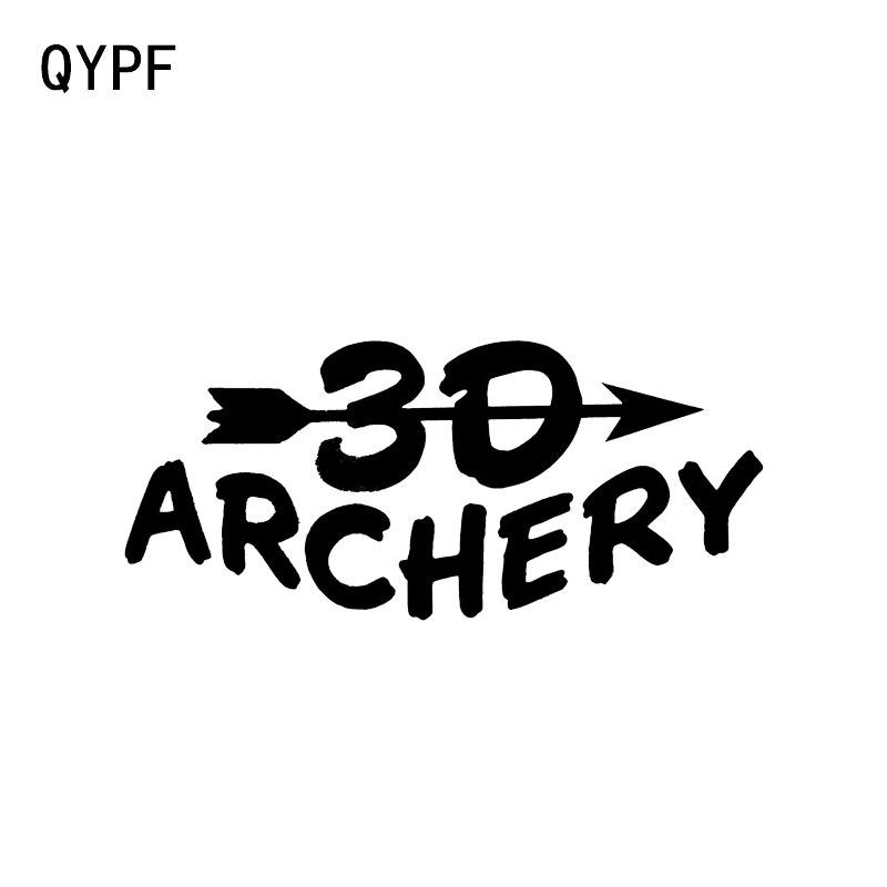 QYPF 15.3*6.7CM Interesting 30 Archery Hunting Sport Decor Car Sticker Vinyl Accessories High Quality Decals C16-1645