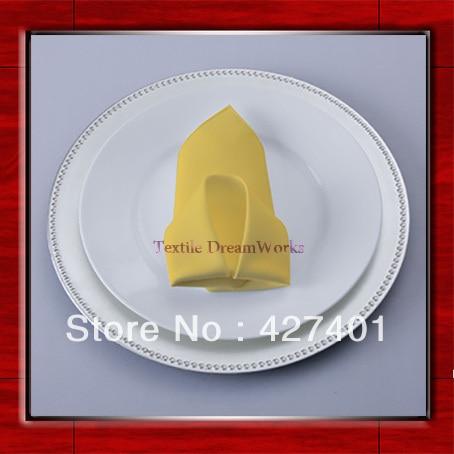 High Quality 50x50cm Gold Polyester Plain Napkin / Table Napkin / Hotel Napkin / Dinner Napkin (Factory Direct Sale)