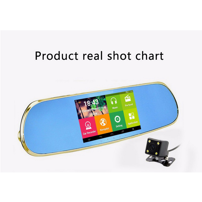 New mirror with rearview camera full hd 1080P with two cameras 5 inch black box Video recorder DVR Android Car DVR dashcam new mirror with rearview camera full hd 1080p with two cameras 5 inch black box video recorder dvr android car dvr dashcam