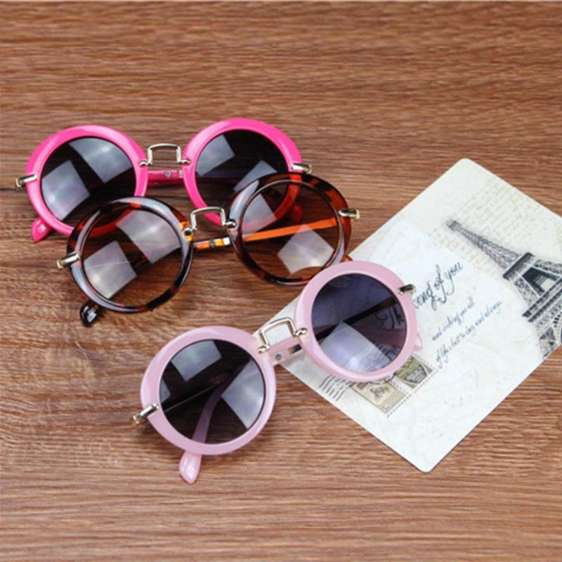 2019 Kids Solbriller Boys Kids Oculos Fashion Round Cute Brand - Beklædningstilbehør - Foto 4
