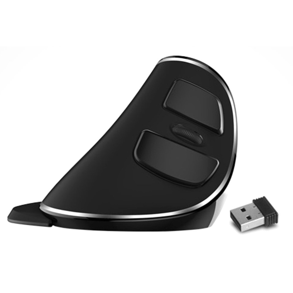 цена на Delux M618 PLUS Wireless Vertical Mouse Ergonomic Wireless Antiskid Mouse Gaming Mouse With Removable Wrist Support