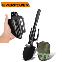 Everpwer Folding Shovel Spade Military Foldable Mini Garden Rake Survival Sapper Shovels Camping Gardens Gardening Tools