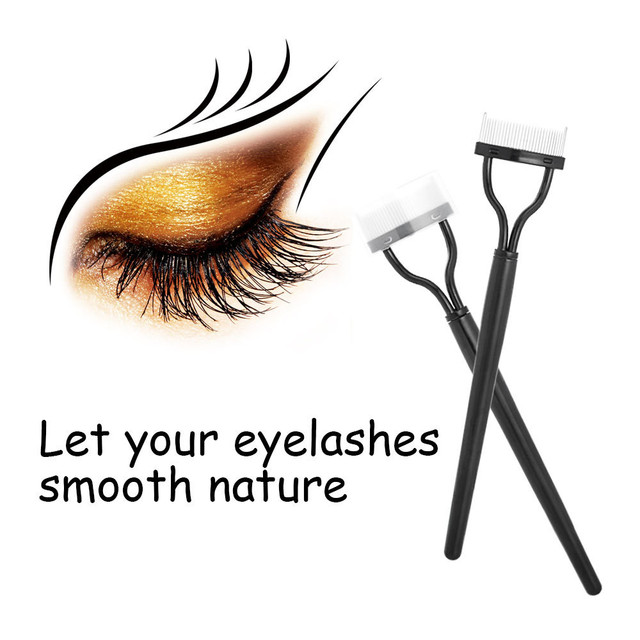 In Stock 1Pcs Women's Eyelash Comb Lash Separator Mascara Lift Curl Metal Brush Beauty Makeup Beauty Lashes Essential Tool Gift