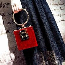 Роскошные женские сумки, дизайнерская квадратная акриловая вечерняя сумочка-клатч с металлическими ремешками, мини вечерние сумочки в форме багажника, пляжная сумка
