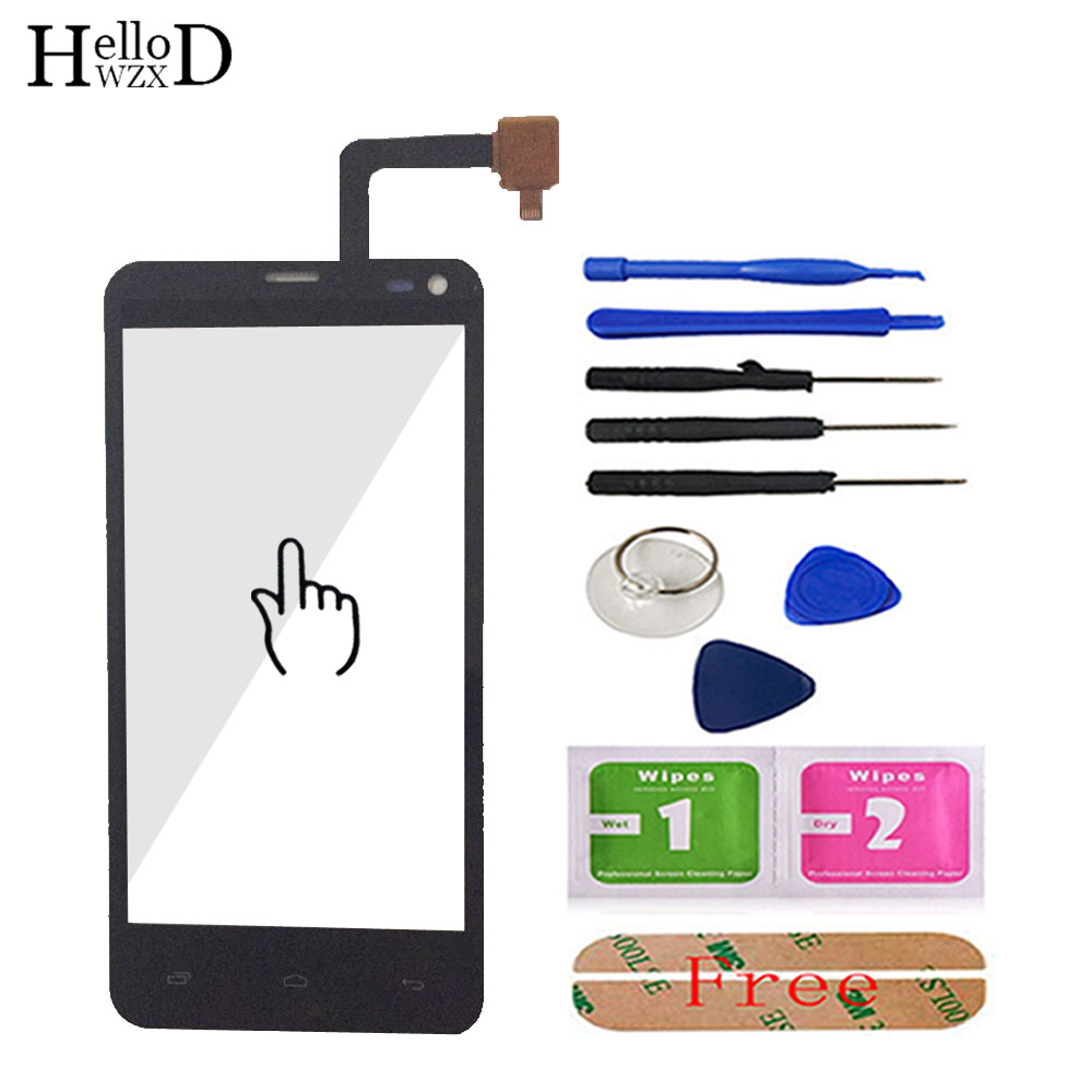 TouchScreen For Fly IQ4416 IQ 4416 Touch Screen Digitizer Glass Mobile Phone Touch Panel Lens Sensor Parts + Tools Free Adhesive
