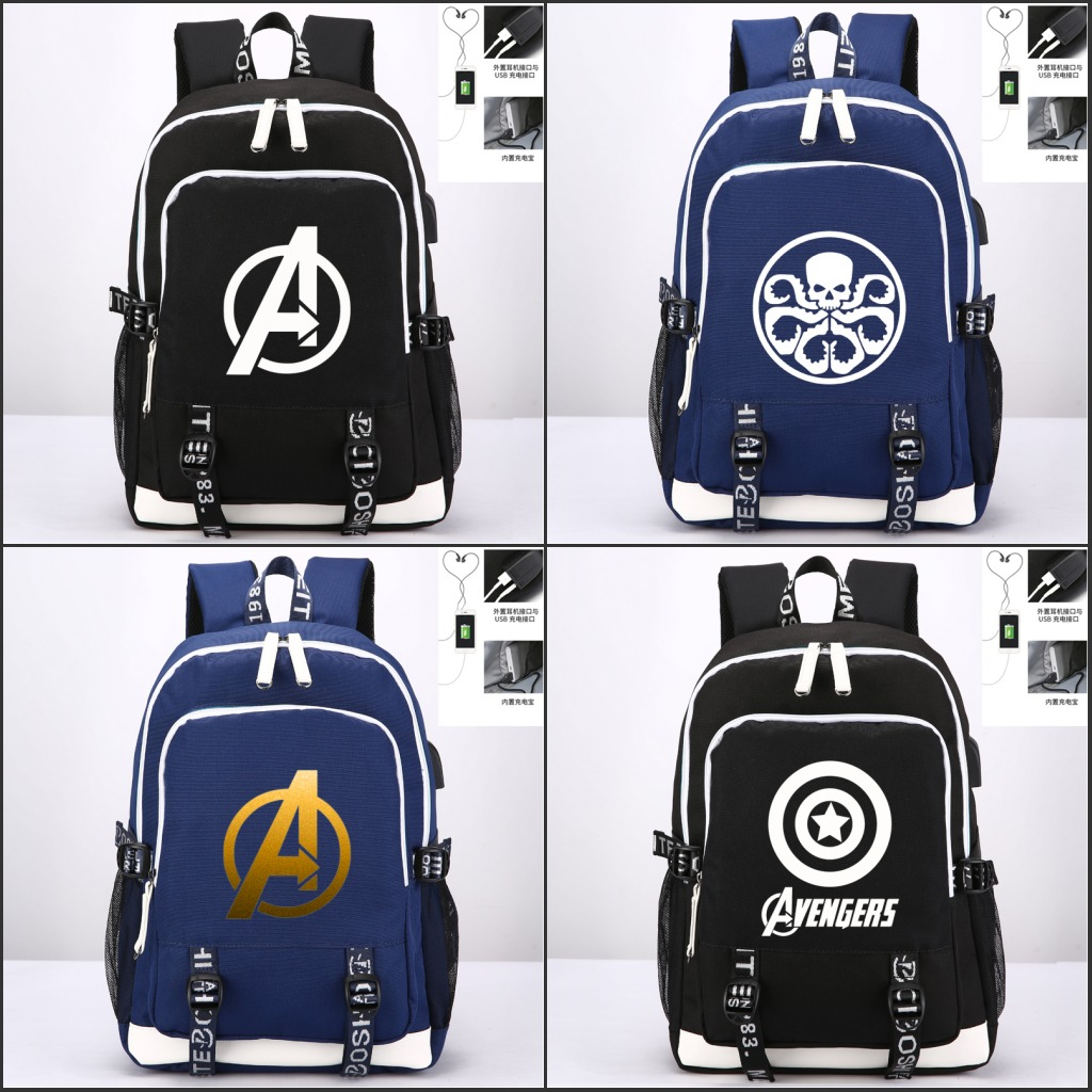 Marvel The Avengers Backpack Teenagers USB Charging Laptop Shoulder Bags Student Bookbag Backpack Men Casual Travel bagMarvel The Avengers Backpack Teenagers USB Charging Laptop Shoulder Bags Student Bookbag Backpack Men Casual Travel bag