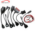 A+++ OBD/OBD2 CDP Car Cables diagnostic tool 8Pcs Full Set Car Adapters tcs CDP Pro Car Cable for ds150e ds150 for fiat opel