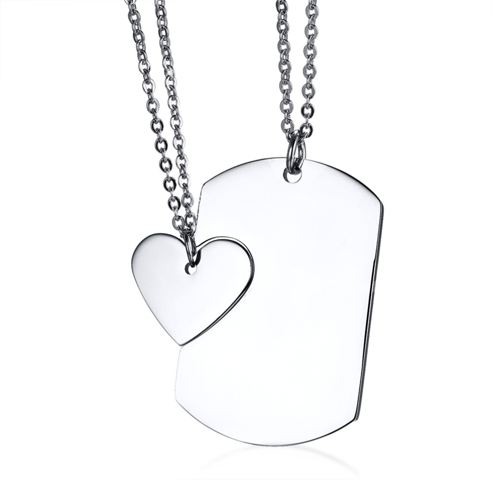a6bfa9481c Titanium Stainless Steel Matching Heart Simple Style GF BF Pendant Couple  Necklaces,Couples Gift -in Pendant Necklaces from Jewelry & Accessories on  ...