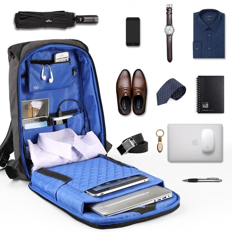 Купить с кэшбэком Kingsons15' Laptop Backpacks with External USB Charging Waterproof bags for Men and Women Business Travel Computer Bag Anti-thef
