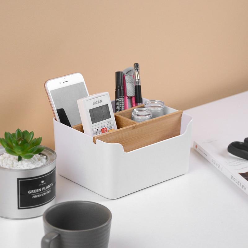 Creative Multi-functional Desktop Storage Box Office Desk Accessories Penholder Office Supplies Stationery Items Desk Organizer