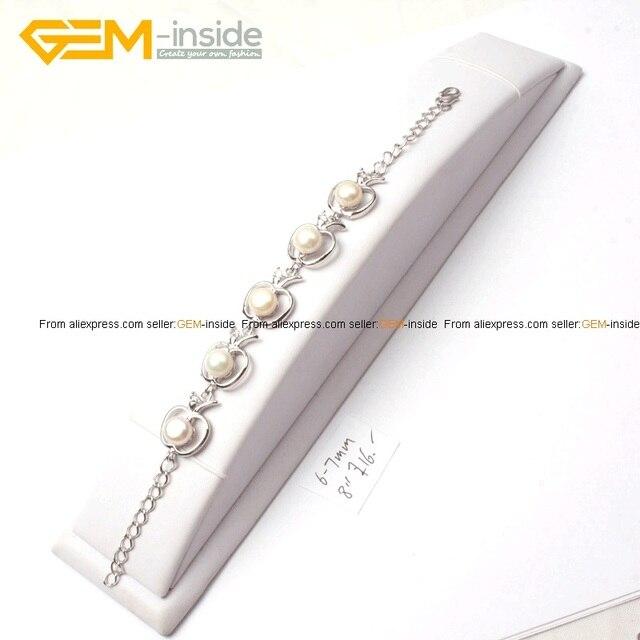 Gem inside Fashion Bracelet 6 7mm shine Freshwater Pearl Frame ...