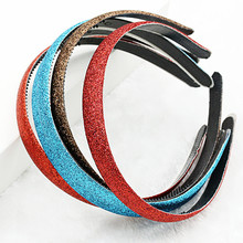 2PCS New Fashion Shiny Luxury Rhinestone Hair Band High Quality Hoop Headband Accessories for Girls Bezel HairBands QW16
