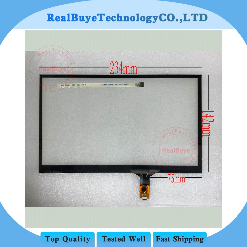 10.1 10.4 Inch 234*142 229*148 mm Capacitive Touch Digitizer Glass Handwritten Panel for Vehicle DVD Navigation Tablet MID GPS image