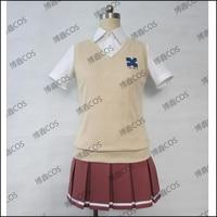 HOT Anime Zankyou no Teroru Cosplay Costume Beautiful Mishima Risa Cosplay Japan School JK Uniform Costume Clothing for Women
