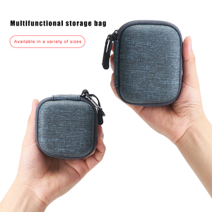 Image 5 - IKSNAIL EVA Hard Zipper Mini Earbuds Earphone Case For BlueBuds Leather Case In ear Bluetooth Earphone Bag Charger Organizer