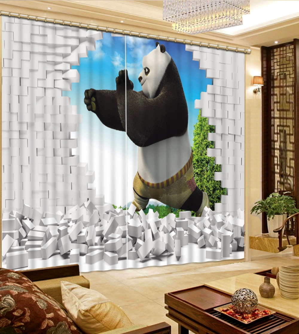 Natural Beautiful High Quality Costom any curtains decorations for home curtains for living room 3d curtains