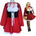 Material Object Photo-Wholesale Adult Little Red riding hood Costume Women Halloween&Carnival Party Club Sexy Costume Size S-6XL