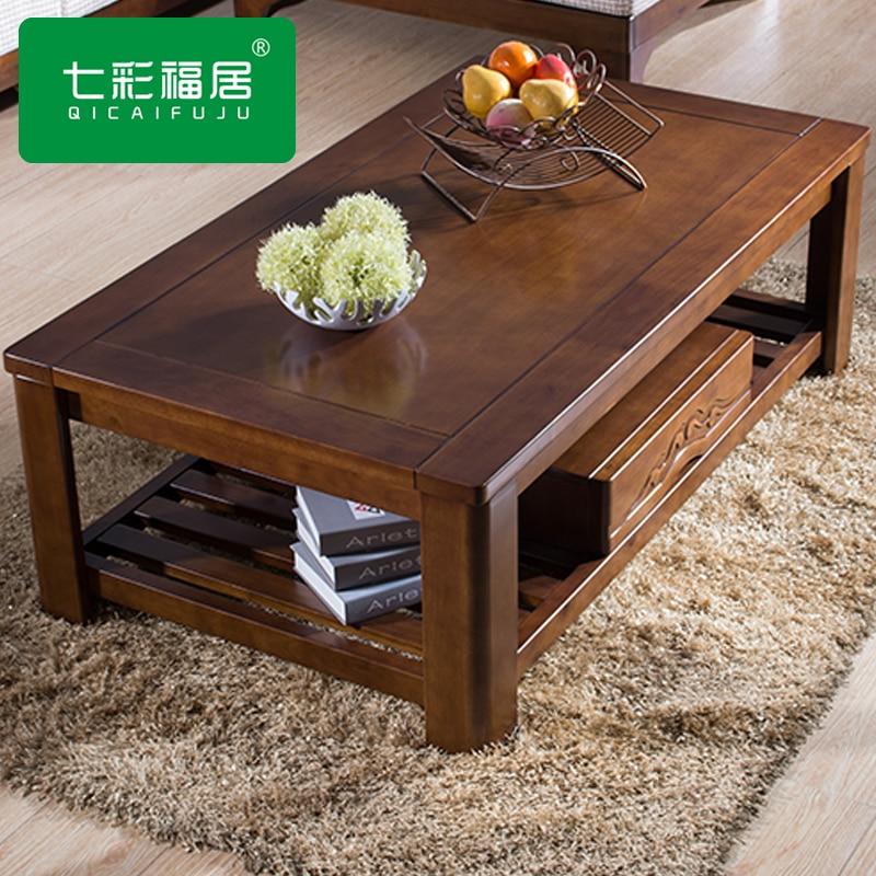 Mesa de centro de madera peque o apartamento sala de estar for Mesas de madera para sala