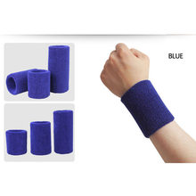 Sports Protector Sweatband Tower Wristband Tennis/Basketball/Badminton Wrist Support 100% Cotton Gym Wrist Guard Wristlet Belts(China)