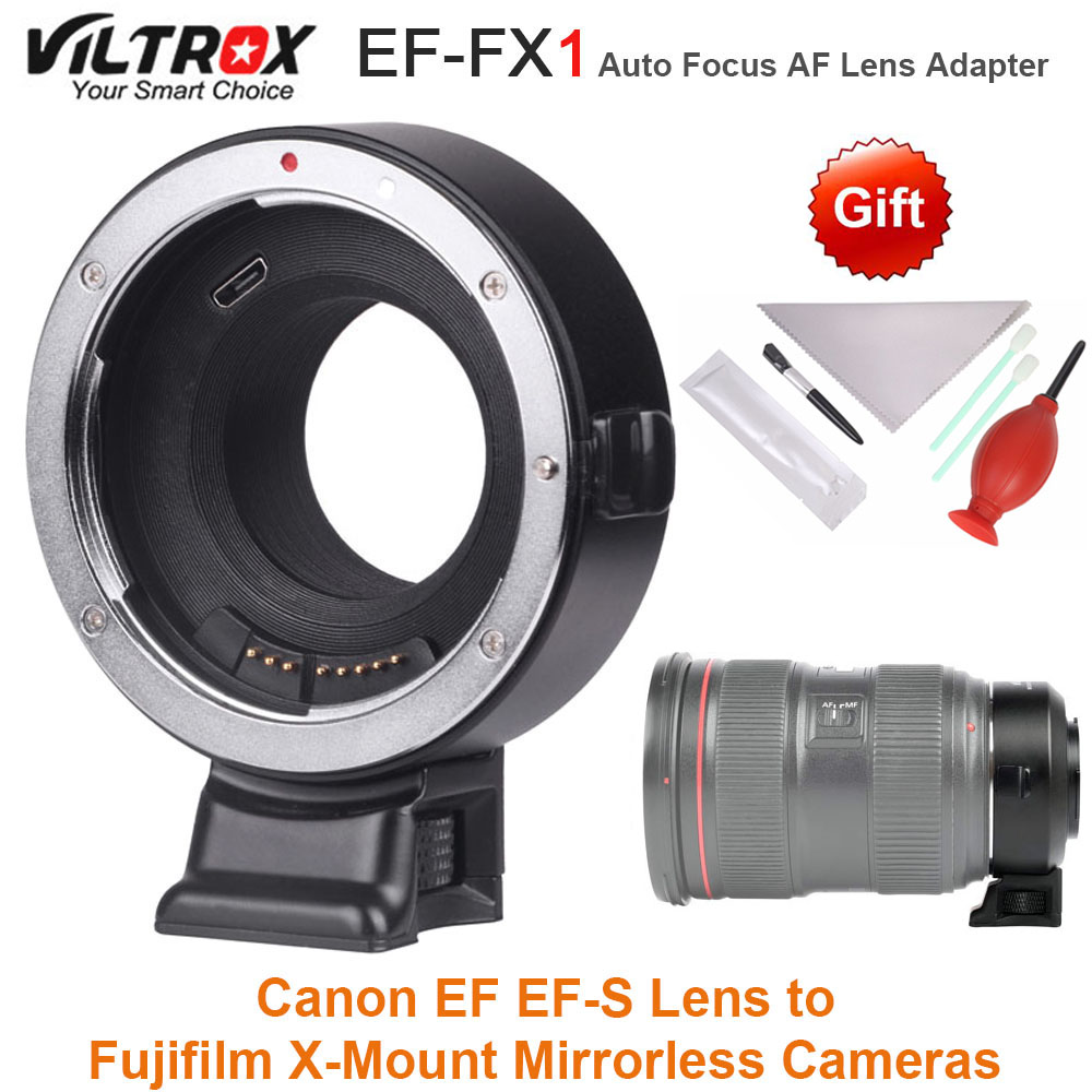 VILTROX EF-FX1 Auto Focus AF Lens Adapter Converter for Canon EF EF-S Lens to Fujifilm X-Mount Mirrorless Cameras