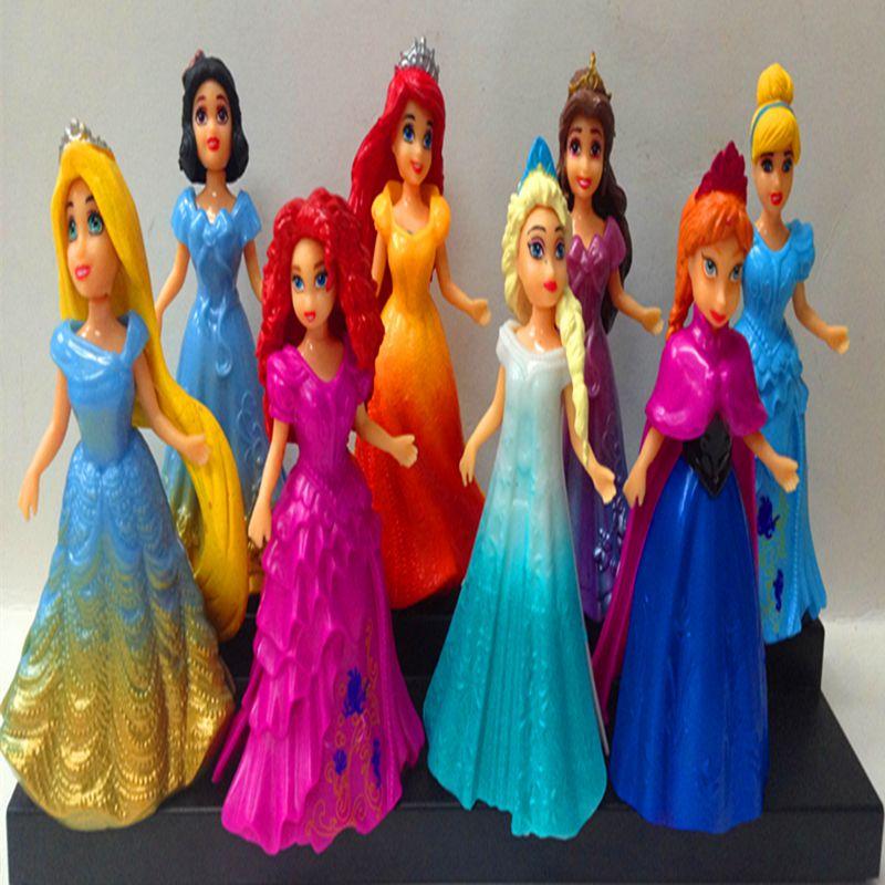 Elsa anna ariel snow white aurora belle cinderella pvc action figure