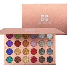24 Color Sexy Sequins Glitter Matte Eyeshadow Palette Smoked Nude Makeup Shiny Cosmetics Professional Waterproof