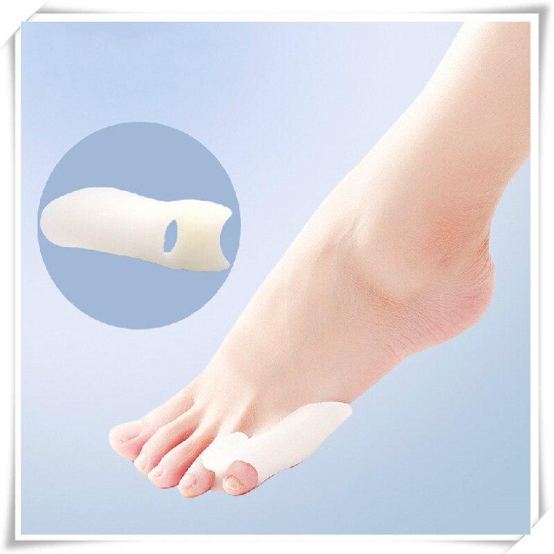 2pcs/pair Silicone Little Toe Corrector Bone Bunion Orthotics Massage Foot Care Separator Orthopedic Supplies Hallux Valgus