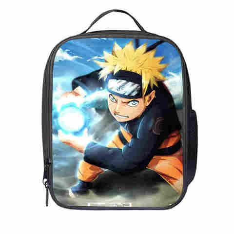 Bolsa do Almoço Naruto Personalizado Jogo Mulheres Homens Adolescentes Meninos Meninas Garoto Escola Tote Caixa Térmica Cooler Duplas