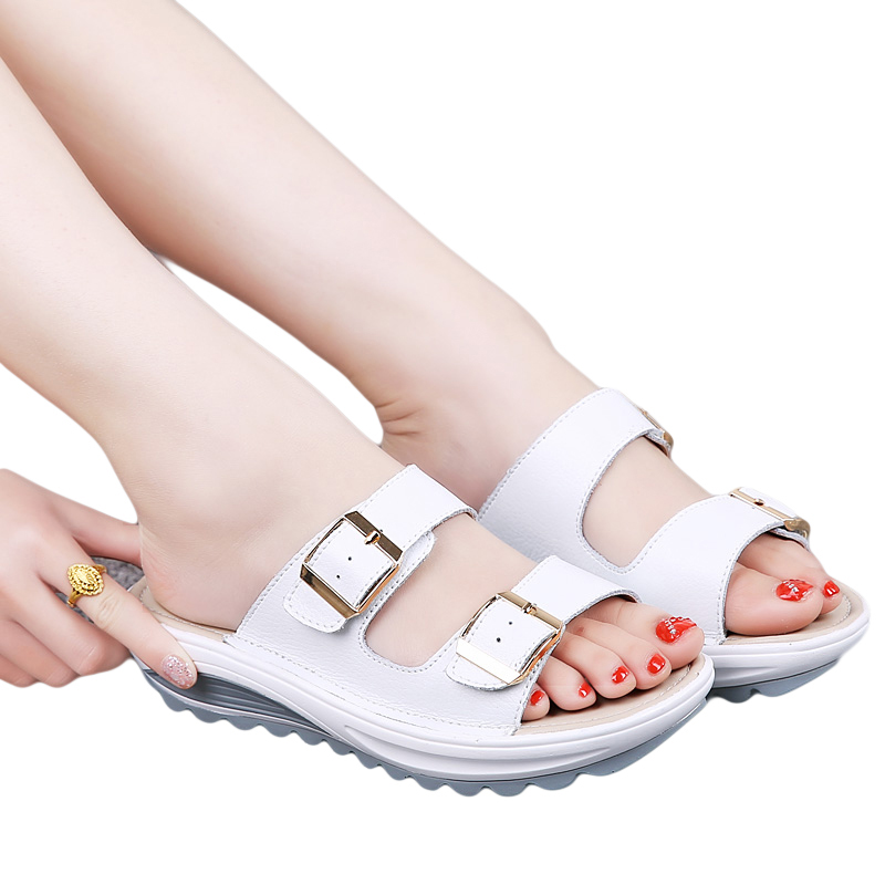 Women Summer Sandals Platform Fashion Wedges Slippers Flip Flops Flats Ladies Shoes Sapato Feminino summer sandals beaded flowers platform wedges women slippers fashion flip flops hot bohemian national style women sandals