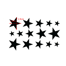 Star Waterproof Temporary Tattoo Sticker Sexy Product 10.5*6cm harajuku sleeve tatoo pesca fake tattoo adesivo de parede