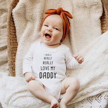 Infant Body Long Sleeve Clothing Jumpsuit I Really Really Love My Dad Letter Cotton Baby Boy Girl