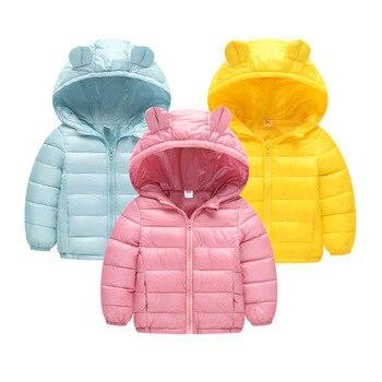 Beebilly girls 겨울 자켓 소년 만화 스타일 소녀 패션 겉옷 아기 소녀 옷 후드 자켓 여자 면화 파카
