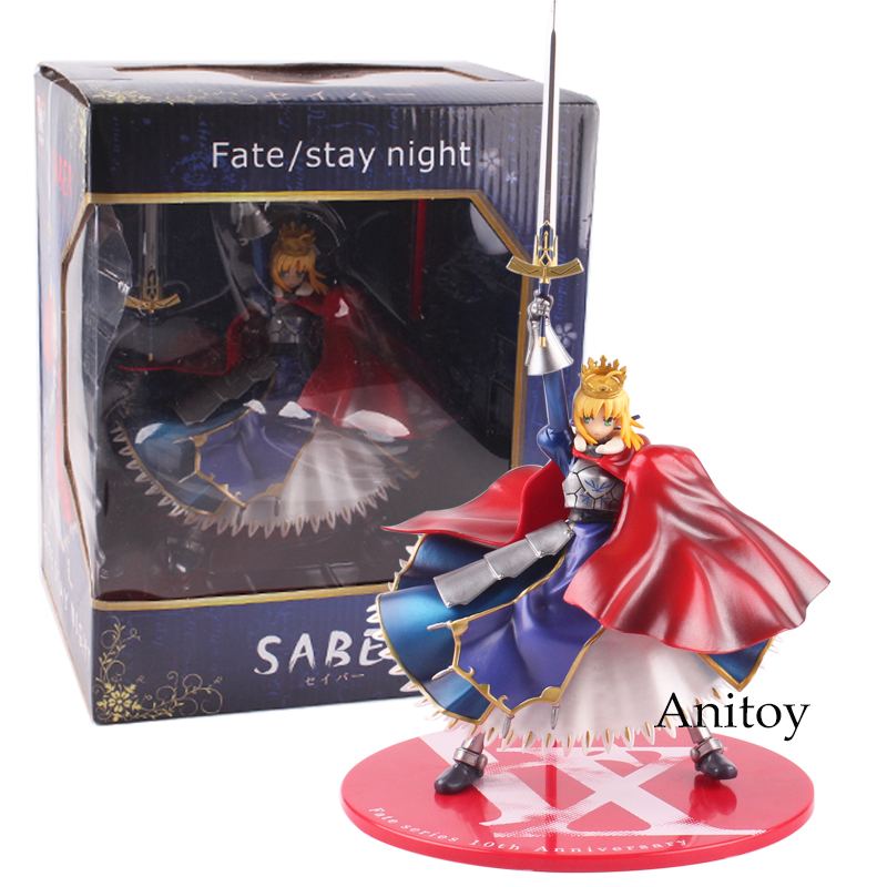 Fate/Stay Night Figure SABER PVC Action Figure Collectible Model Toy Gift 20cm new hot christmas gift 21inch 52cm bearbrick be rbrick fashion toy pvc action figure collectible model toy decoration