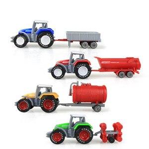 4 Types Die-cast Farm Truck Toy Mini Car Model Engineering Car Model Tractor Engineering Car Tractor Toys Model for Kids Gift