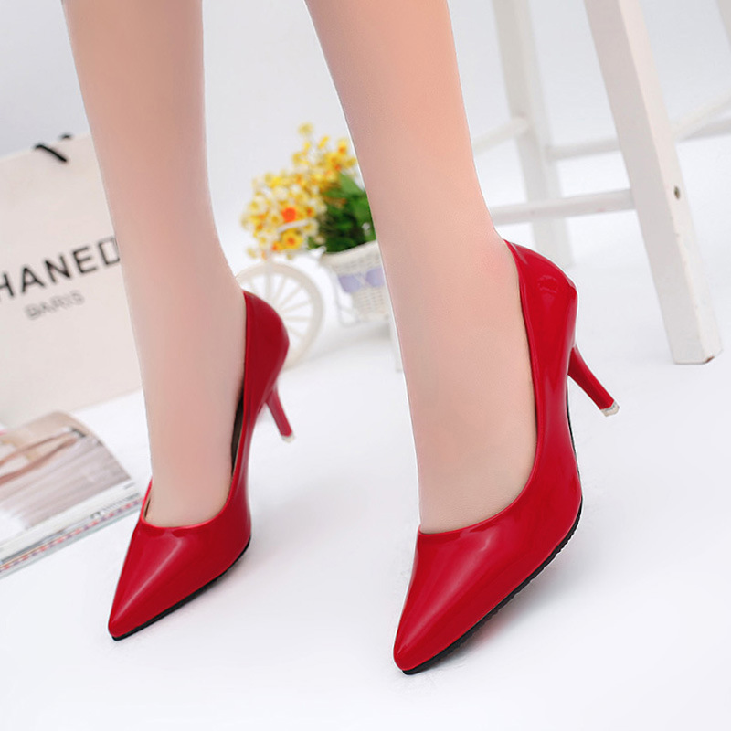 2019 New Super Gas Field Women's Single Shoes Pointed Shallow Mouth Solid Color High Heel Women Shoes Wedding Shoes High Heel