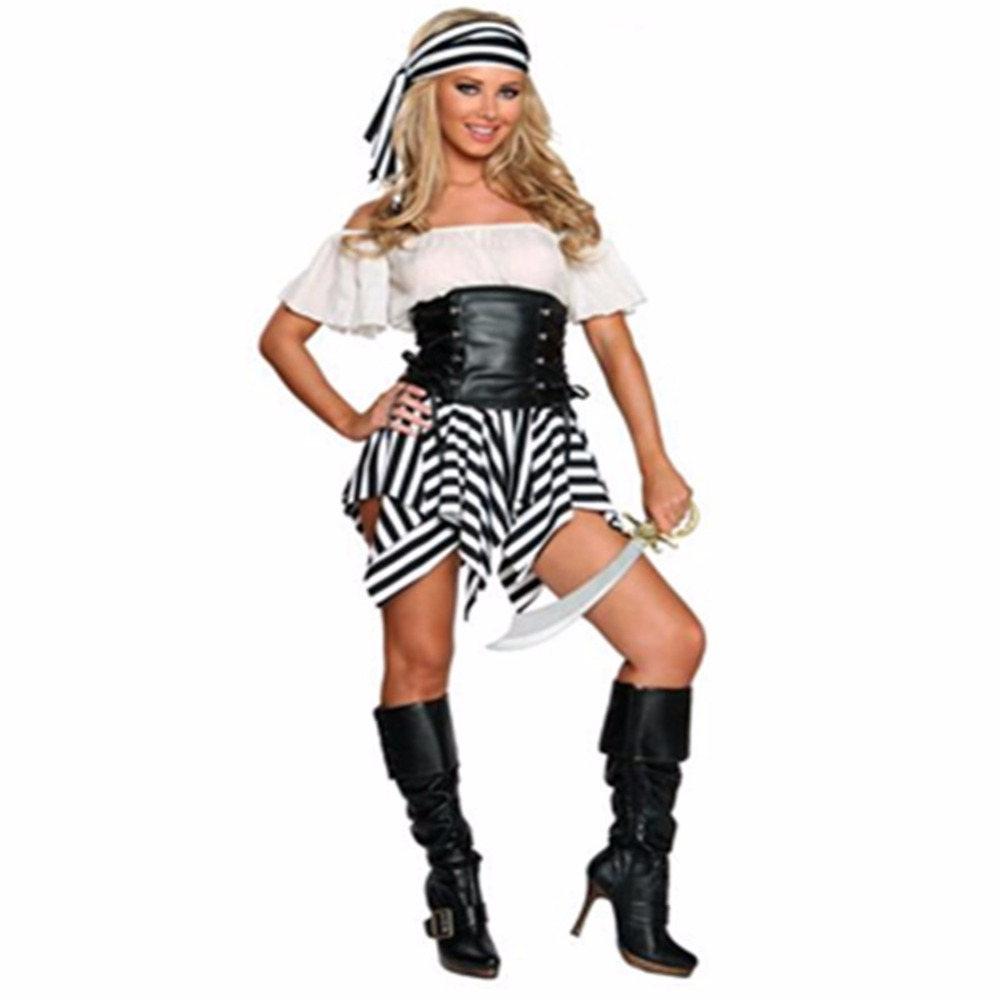 Halloween Pirate Cosplay Costumes For Women Sailor Suit Role Playing