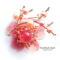 La MaxZa Fashion Metal Brooches Women Accessories Flower Brooch Suits Dress Banquet Brooch Jewelry High Quality Handmade XZ3001