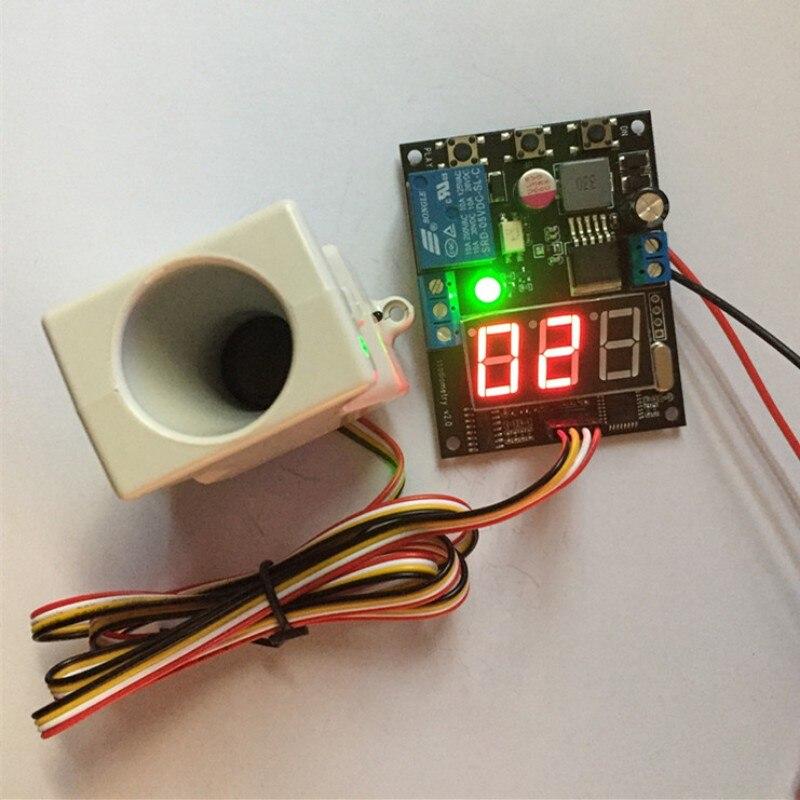 Avec affichage petit angle module de capteur à ultrasons 10-30 V relais sortie Distance module de mesure plage réglable 20 cm-800 cm